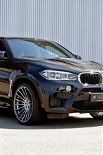 Preview iPhone wallpaper Hamann BMW X6 M SUV car