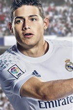 Preview iPhone wallpaper James Rodriguez, FIFA 17