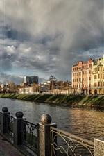 Kharkov, Ukraine, cathedral, river, houses