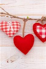 Amor corações, galho, romântico
