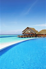 Maldives, hotel, pool, resort, sea