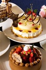 Preview iPhone wallpaper Many kinds of cakes for Christmas
