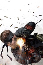 Preview iPhone wallpaper Metal Gear Solid, soldier fight