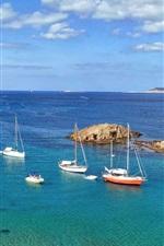 Minorque, mar, ilha, barcos, Espanha