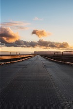 Preview iPhone wallpaper Morning, road, sunrise
