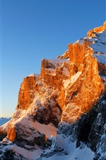 Preview iPhone wallpaper Mountains, snow, sunlight