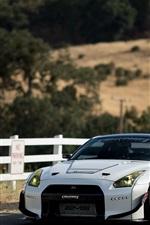 미리보기 iPhone 배경 화면 닛산 GT-R 흰색 초차 전면보기