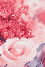 Preview iPhone wallpaper Pink flowers, rose, petals, buds