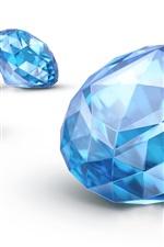 Preview iPhone wallpaper Sapphire, blue diamond