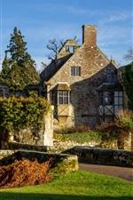 미리보기 iPhone 배경 화면 Scotney 성, 잉글랜드, 나무, 잔디, 햇빛