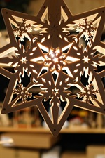 Preview iPhone wallpaper Shop decoration pendant, octagonal wood hanging lights