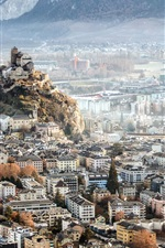 Sion, Switzerland, city top view