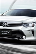 Preview iPhone wallpaper Toyota Camry 10th Anniversary car front view and speed