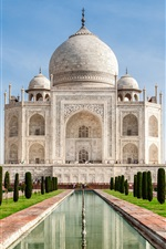 Preview iPhone wallpaper Travel to India, Taj Mahal, castle