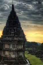 iPhone fondos de pantalla Viajes a la India, templo, piedras, atardecer