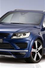 Volkswagen Touareg blue SUV car