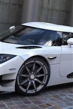 Preview iPhone wallpaper White Koenigsegg CCXR supercar