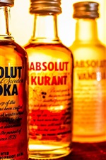 Preview iPhone wallpaper Absolut Vodka, liquor, bottles