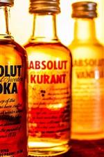 Absolut Vodka, liquor, bottles