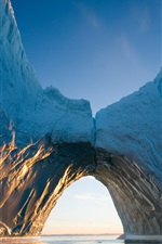 Preview iPhone wallpaper Arctic, iceberg, ice, sea, arch