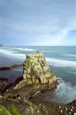 Preview iPhone wallpaper Auckland, Muriwai Beach, New Zealand, sea, coast, clouds