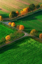 Preview iPhone wallpaper Autumn fields top view, North Rhine-Westphalia, Nottuln, Germany