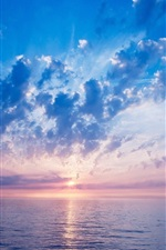 Preview iPhone wallpaper Beautiful sunrise, sea, clouds