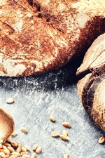 Preview iPhone wallpaper Bread, wheat, grain, food photography