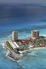 Preview iPhone wallpaper Cancun, Mexico, city, beach, coast, sea, island