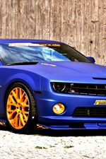 Chevrolet Camaro blue car