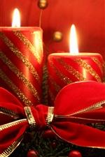 미리보기 iPhone 배경 화면 크리스마스 테마, 붉은 양 초, 불꽃
