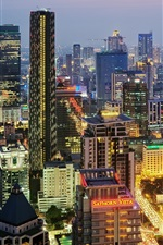 Preview iPhone wallpaper City night, Bangkok, Thailand, buildings, lights