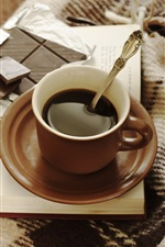 Preview iPhone wallpaper Coffee and chocolate, cup