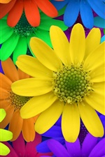 Preview iPhone wallpaper Colorful flowers, garden, creative pictures