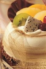 Dessert cake, cherry, kiwi