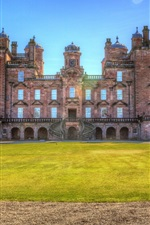 Preview iPhone wallpaper Drumlanrig Castle, lawn, Scotland
