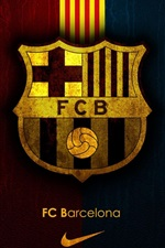 Preview iPhone wallpaper FCB, Football club Barcelona, Nike