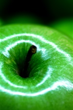 Preview iPhone wallpaper Green apple macro photography