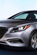 iPhone fondos de pantalla Hyundai Sonata plata color coche