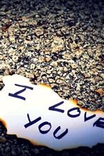 미리보기 iPhone 배경 화면 나는 당신을 사랑하는 종이를 쓰고 사랑한다.