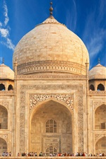 Preview iPhone wallpaper India travel place, Taj Mahal