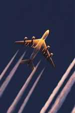 Preview iPhone wallpaper Korean Air A380 planes flight bottom view