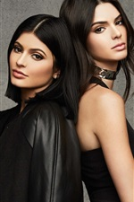 Preview iPhone wallpaper Kylie Jenner, Kendall Jenner