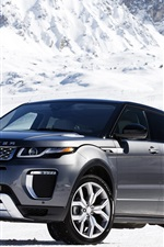 Preview iPhone wallpaper Land Rover Range Rover in snow winter