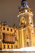 Lima city night, houses, lights