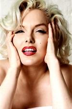 Preview iPhone wallpaper Marilyn Monroe 01