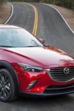 미리보기 iPhone 배경 화면 마쓰다 CX-3 빨간색 SUV 자동차