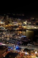 Preview iPhone wallpaper Monaco, city night, ports, yachts