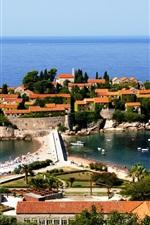 미리보기 iPhone 배경 화면 몬테네그로, Adriatica, 호텔, 바다, 보트