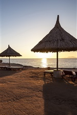 Preview iPhone wallpaper Morning, coast, resort, shadows, sunrise, Egypt